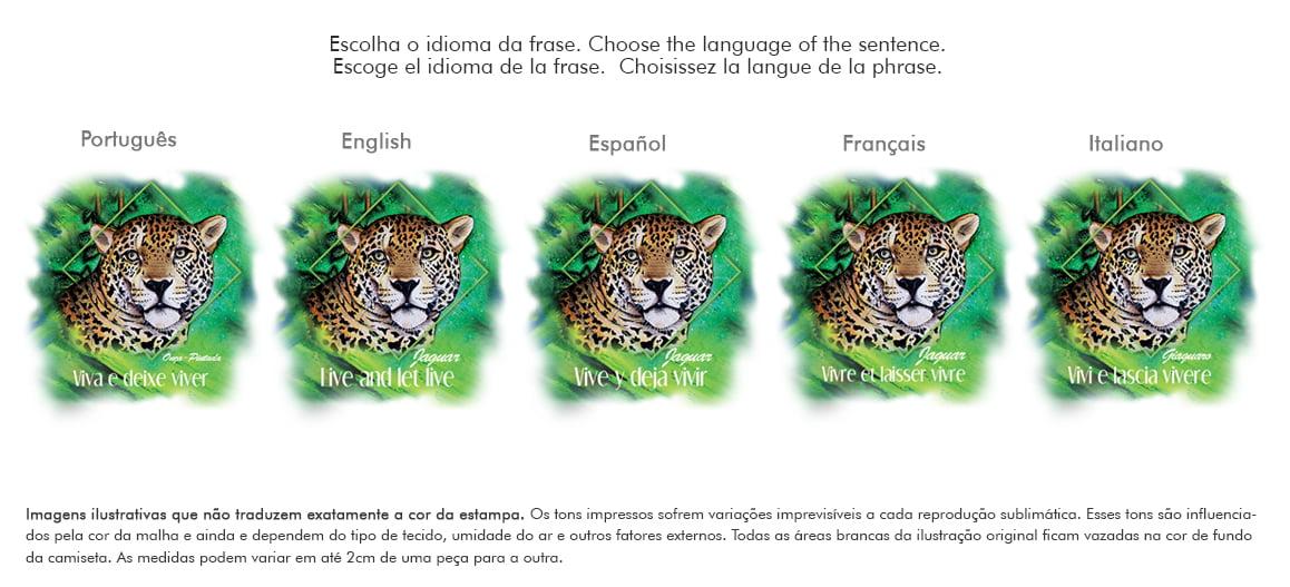 Camiseta Onça-Pintada-Jaguar