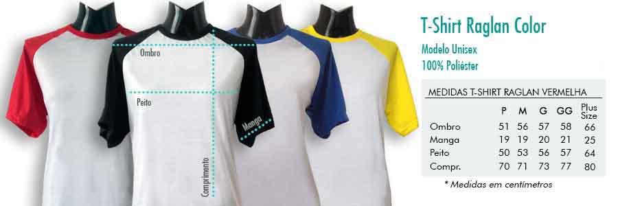 Camiseta Raglan Colorida