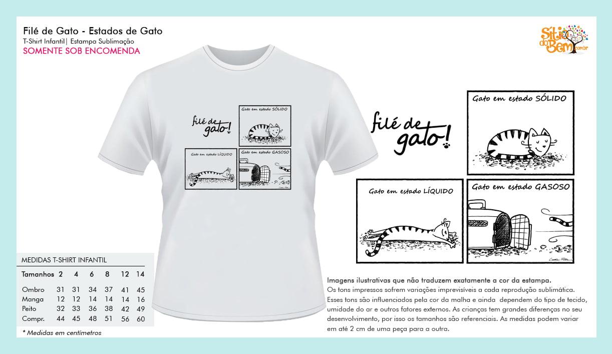 Filé de Gato | Camiseta Desenho Estados de Gato