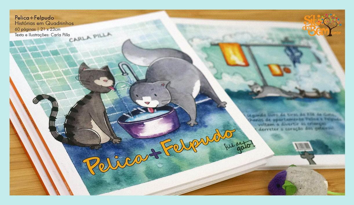 Livro com Histórias de Gatos | Pelica + Felpudo