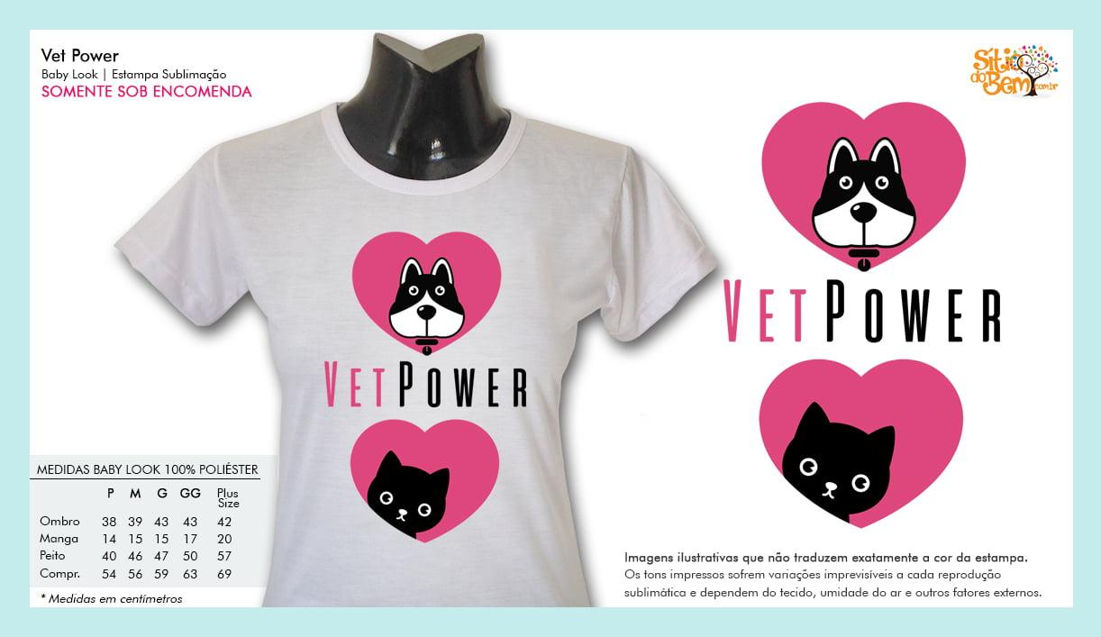 Camiseta com Desenho Veterinário | Vet Power
