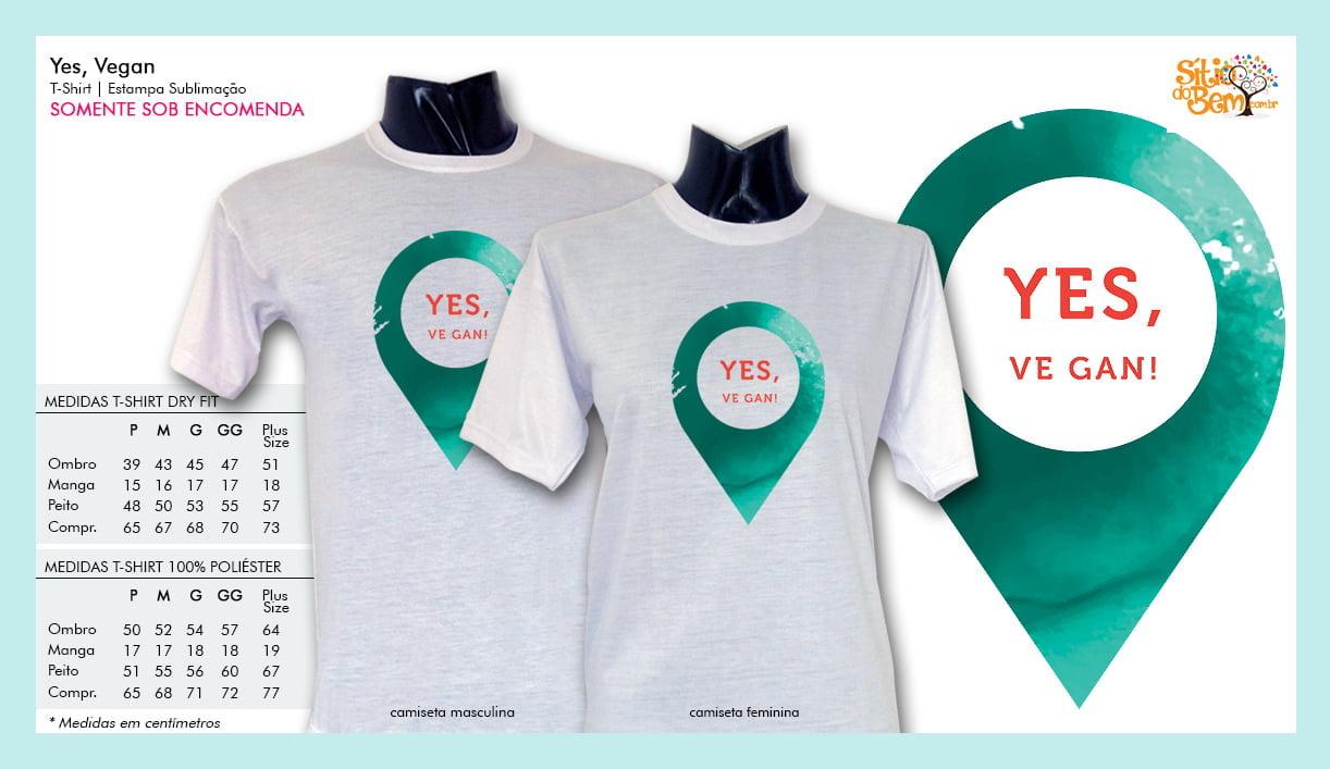Camiseta com Desenho Yes, Vegan