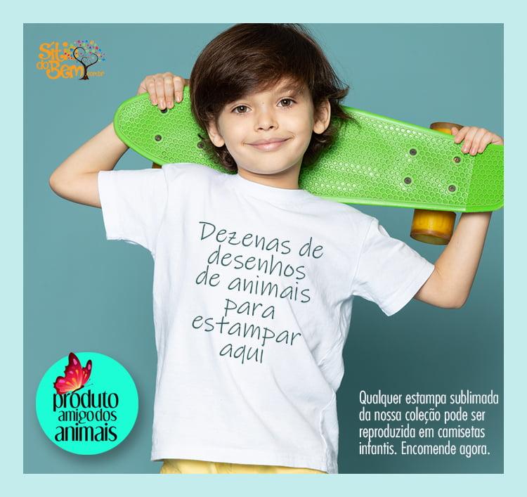 Camiseta Infantil Desenho Animais | Escolha sua estampa