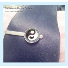 Prendedor de gravata yin yang