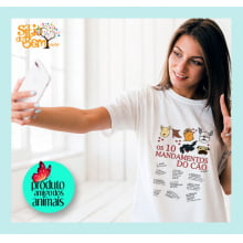Filé de Gato | Camiseta com Desenho Os 10 Mandamentos do Cão