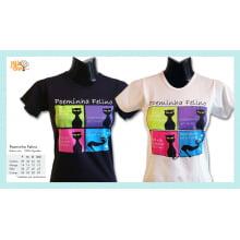 Camiseta desenho de gato poeta