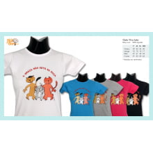 Camiseta desenho de gato vira-lata