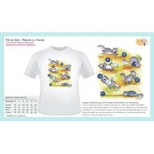 Filé de Gato | Camiseta com Desenho Felpudo e o Novelo