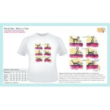 Filé de Gato | Camiseta com Desenho Pelica e o Copo
