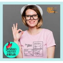 Filé de Gato | Camiseta Desenho Armadilha de Gato
