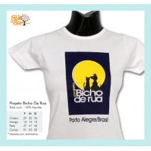 Camiseta desenho meio ambiente logotipo Bicho de Rua