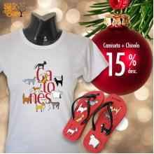 Kit Filé de Gato | Camiseta + Chinelo Gatonês com 15% de desconto