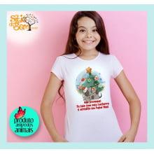 Camiseta com Desenho Cachorro Natalino