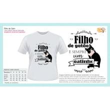 Camiseta Infantil com Desenho Filho de Gato É Sempre Gatinho