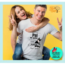 Camiseta com Desenho Pai de Gato é Sempre Gatão