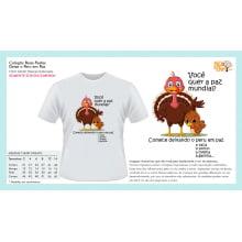 Camiseta com Desenho Vegano |  Deixe o peru em paz