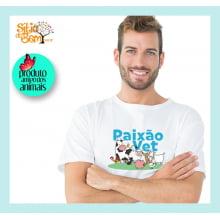 Camiseta com Desenho Veterinário | Paixão Vet