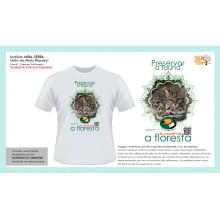 Camiseta Desenho Mata Atlântica | Gato-do-Mato-Pequeno