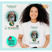 Camiseta Desenho Mata Atlântica | Jaguatirica