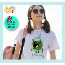 Camiseta Desenho Mata Atlântica | Tucano-de-bico-verde