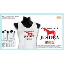 Camiseta Desenho Vegano | Não é bondade, é justiça - Cavalo