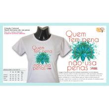 Camiseta Desenho Vegano | Quem tem pena não usa penas