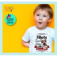 Camiseta Infantil com Desenho Filhote do Líder da Matilha