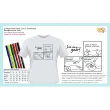 Camiseta Infantil Desenho Animais | Para Colorir
