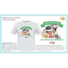 Camiseta Infantil Desenho Vegano | Veganinho por amor aos Bichinhos