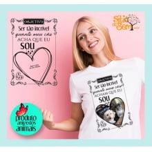 Camiseta Objetivo de Vida | Personalizada Com Seu Bicho de Estimação